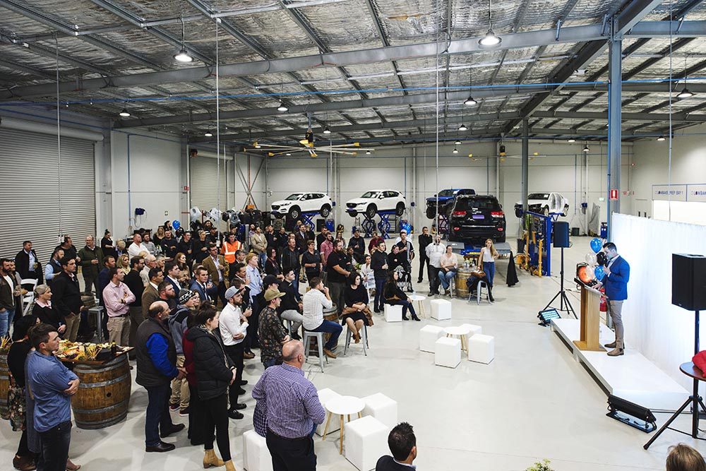 leven smash repairs opening night dubbo facility