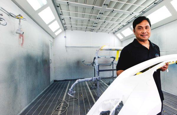 tradesman lrs mudgee spray painting booth